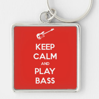 Keep Calm and Play Bass Keychain