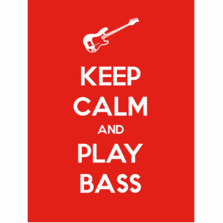 Keep Calm and Play Bass Statuette