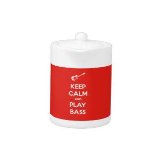 Keep Calm and Play Bass Teapot
