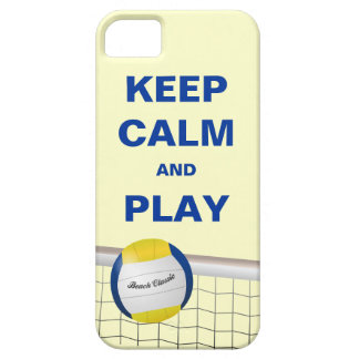 KEEP CALM AND PLAY BEACH VOLLEYBALL iPhone 5 Case