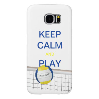 Keep Calm and Play Beach Volleyball Samsung S6 Samsung Galaxy S6 Case