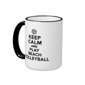 Keep calm and play Beachvolleyball Mug