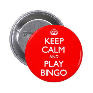 Keep Calm and Play Bingo (Carry On) Button