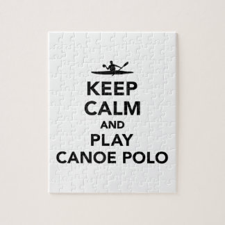 Keep calm and Play Canoe Polo Jigsaw Puzzle