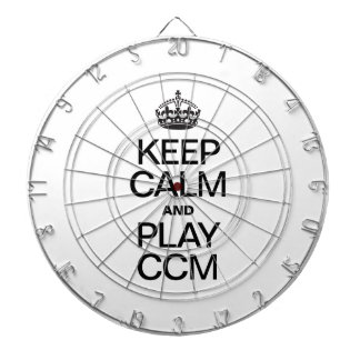 KEEP CALM AND PLAY CCM DARTBOARD WITH DARTS