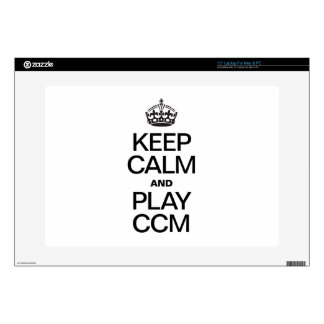 "KEEP CALM AND PLAY CCM DECALS FOR 15"" LAPTOPS"