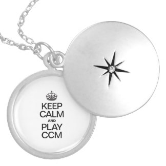 KEEP CALM AND PLAY CCM ROUND LOCKET NECKLACE