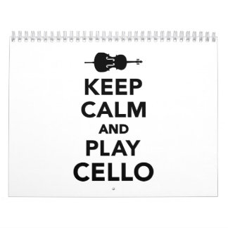 Keep calm and Play Cello Calendar