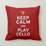 Keep Calm and Play Cello Pillow