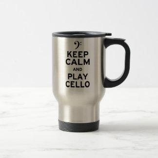 Keep Calm and Play Cello Travel Mug