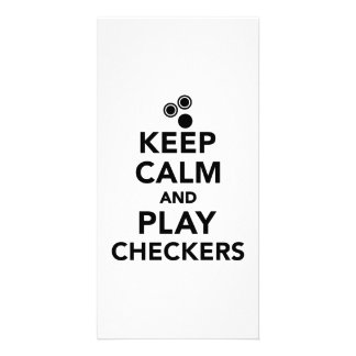 Keep calm and play Checkers Photo Card