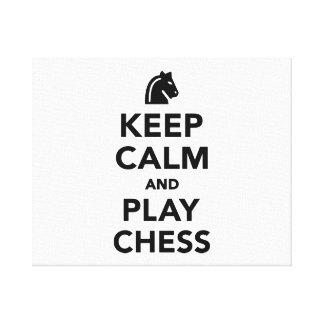 Keep calm and Play Chess Canvas Print