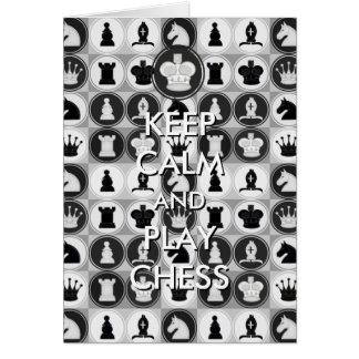 Keep Calm and Play Chess Card