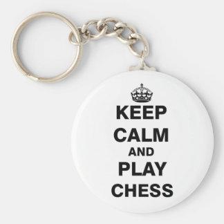 Keep Calm and Play Chess Keychain