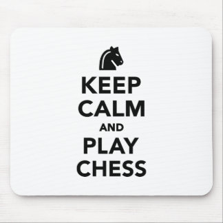 Keep calm and Play Chess Mousepads