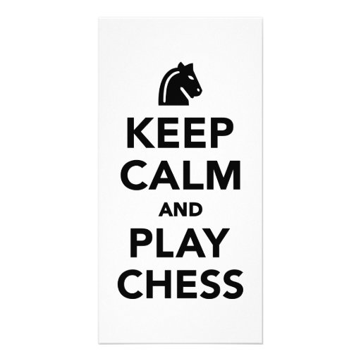 Keep calm and Play Chess Photo Cards