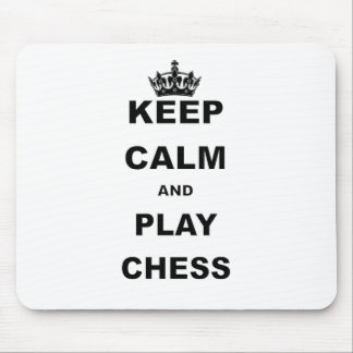 KEEP CALM AND PLAY CHESS.png Mouse Pad