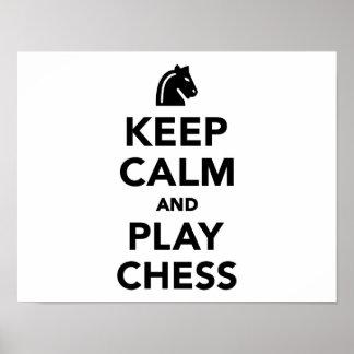 Keep calm and Play Chess Print