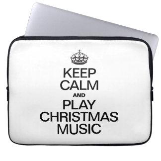 KEEP CALM AND PLAY CHRISTMAS MUSIC COMPUTER SLEEVE