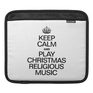 KEEP CALM AND PLAY CHRISTMAS RELIGIOUS MUSIC iPad SLEEVES
