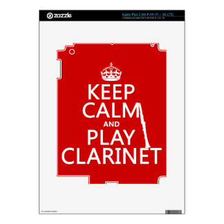 Keep Calm and Play Clarinet (any background color) iPad 3 Decals