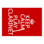 Keep Calm and Play Clarinet (any background color) Large Business Cards (Pack Of 100)