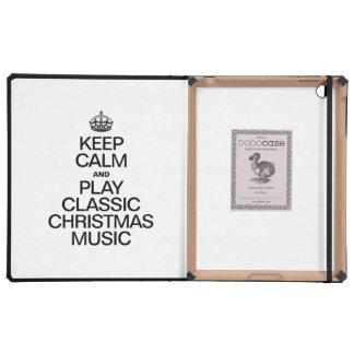 KEEP CALM AND PLAY CLASSIC CHRISTMAS MUSIC iPad FOLIO CASES