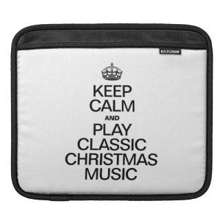 KEEP CALM AND PLAY CLASSIC CHRISTMAS MUSIC SLEEVE FOR iPads