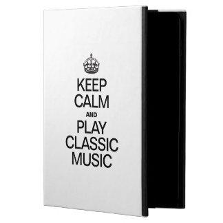 KEEP CALM AND PLAY CLASSIC MUSIC iPad AIR COVER