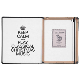 KEEP CALM AND PLAY CLASSICAL CHRISTMAS MUSIC iPad CASE