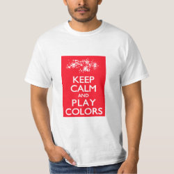 Men's Crew Value T-Shirt with Keep Calm and Play Colors design