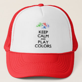 Keep Calm and Play Colors Trucker Hat