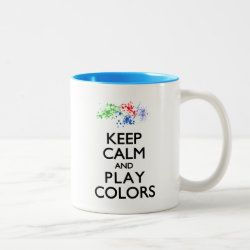 Two-Tone Mug with Keep Calm and Play Colors design