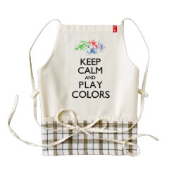 LIFE Line Apron with Keep Calm and Play Colors design