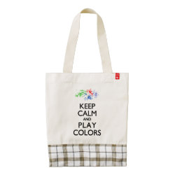 LIFE Line Tote Bag with Keep Calm and Play Colors design