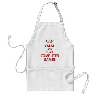 Keep Calm and Play Computer Games Adult Apron