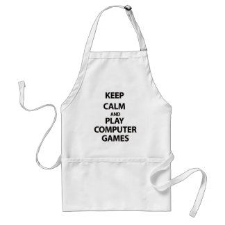 Keep Calm and Play Computer Games Apron