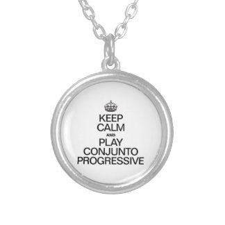 KEEP CALM AND PLAY CONJUNTO PROGRESSIVE ROUND PENDANT NECKLACE