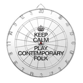 KEEP CALM AND PLAY CONTEMPORARY FOLK DARTBOARD WITH DARTS