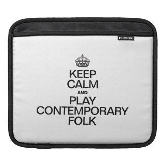 KEEP CALM AND PLAY CONTEMPORARY FOLK iPad SLEEVES