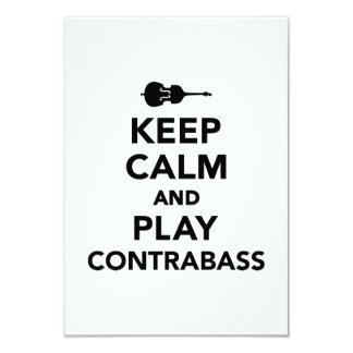 Keep calm and Play Contrabass Personalized Invitation