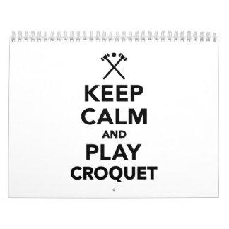 Keep calm and play Croquet Calendar