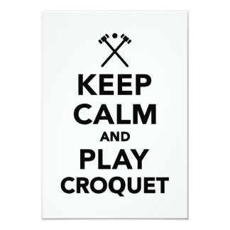 Keep calm and play Croquet Card