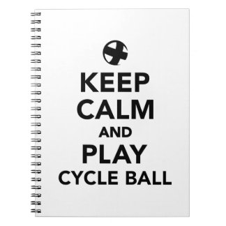 Keep calm and play cycle ball spiral notebook