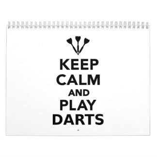 Keep calm and play Darts Calendar