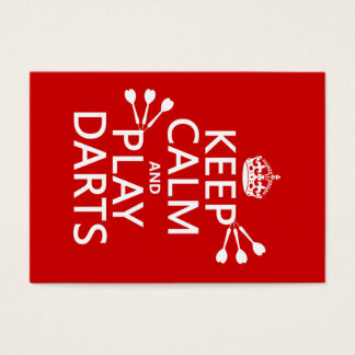 Keep Calm and Play Darts (customisable color) Business Card