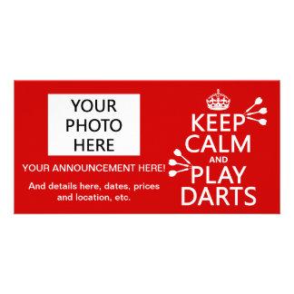 Keep Calm and Play Darts (customisable color) Card