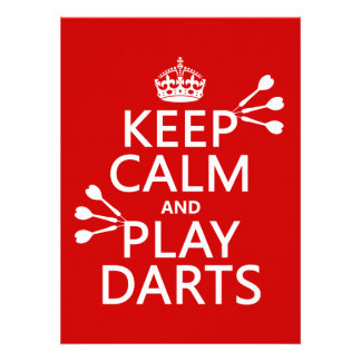 Keep Calm and Play Darts (customisable color) Invitation