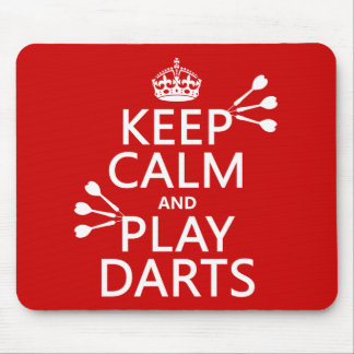 Keep Calm and Play Darts (customisable color) Mouse Pad