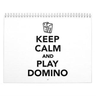 Keep calm and play Domino Calendar